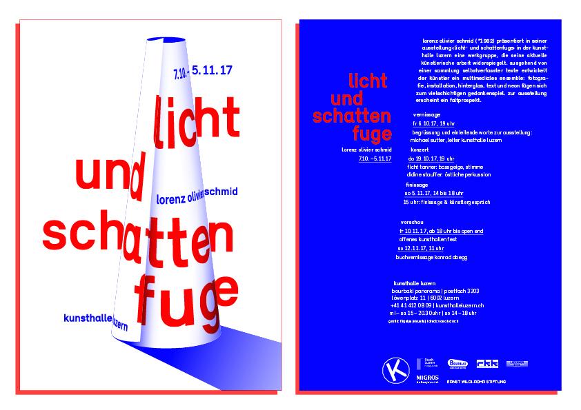 Licht- und Schattenfuge – Lorenz Olivier Schmid