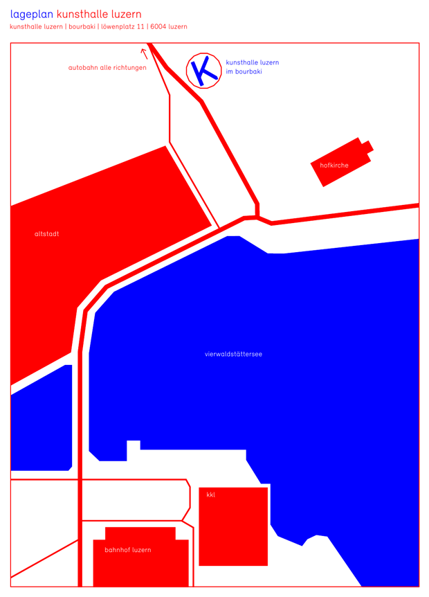 Lageplan Kunsthalle Luzern