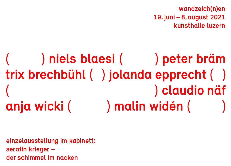 Gruppenausstellung WANDZEICH(N)EN Vorschaubild ©Niels Bläsi